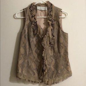 Elie Tahari Leather Vest